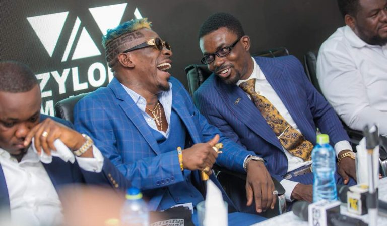 Photos you missed at Shatta Wale's unveiling at Zylofon Media