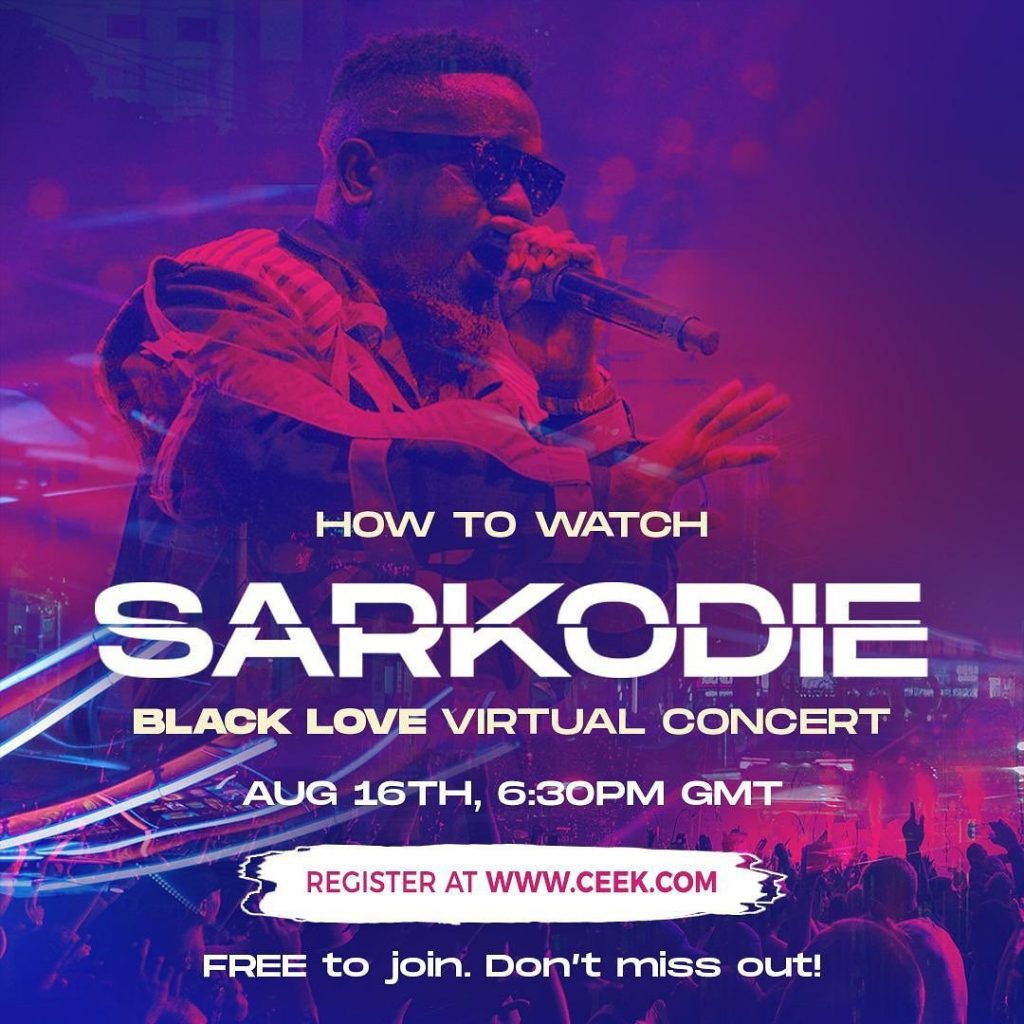 Sarkodie goes live with Black Love virtual concert – Watch on Ceek