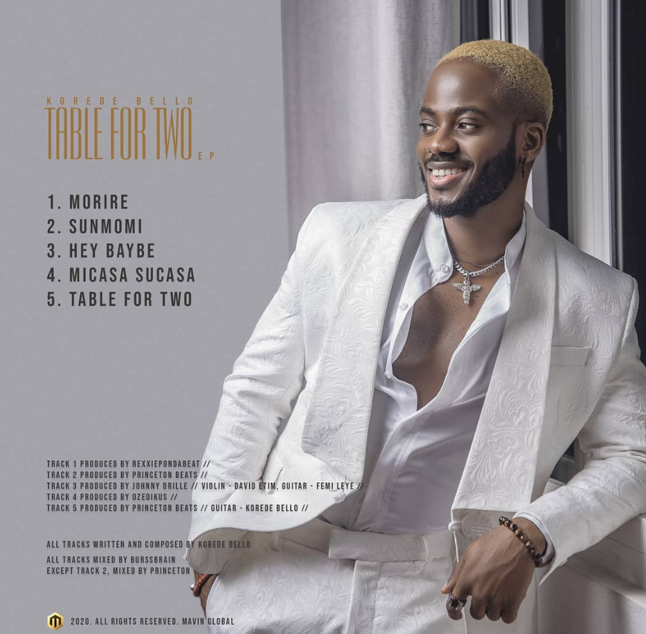 Listen to 'Table for two EP' by Korede Bello
