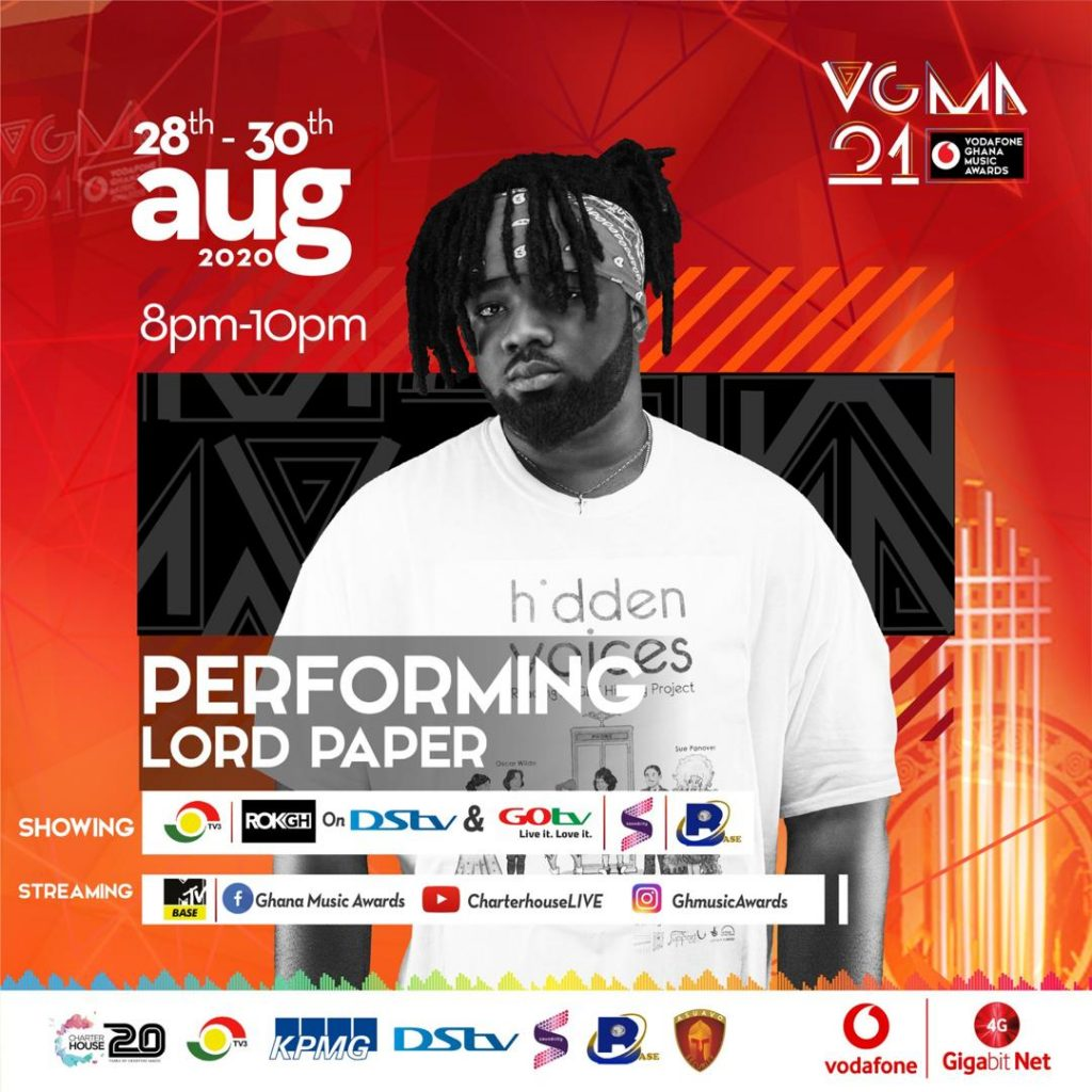 LORD PAPER SET TO PERFORM AT VGMA 2021