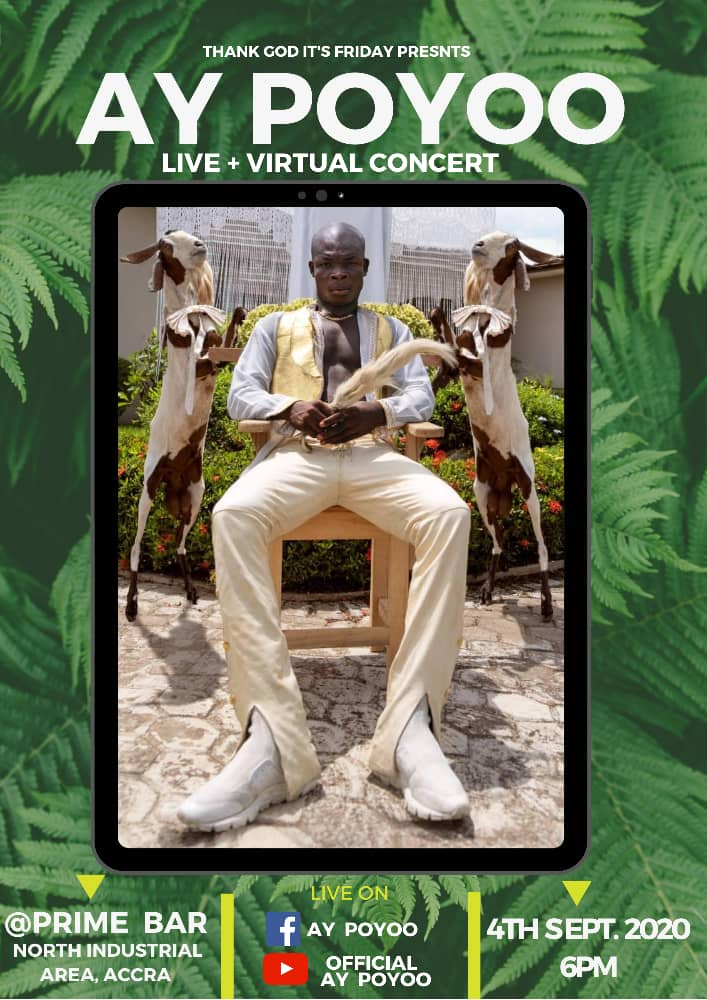 AY Poyoo goes Live On 4th September  with Virtual Concert