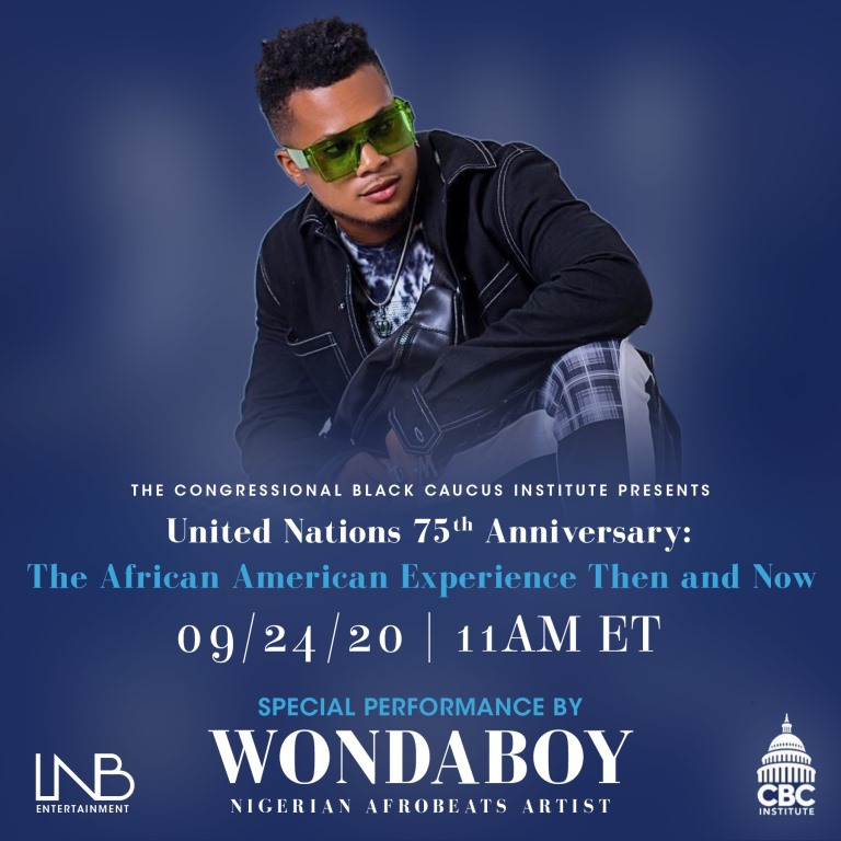 Wondaboy wows audiences with a virtual performance at the United Nations' 75th anniversary