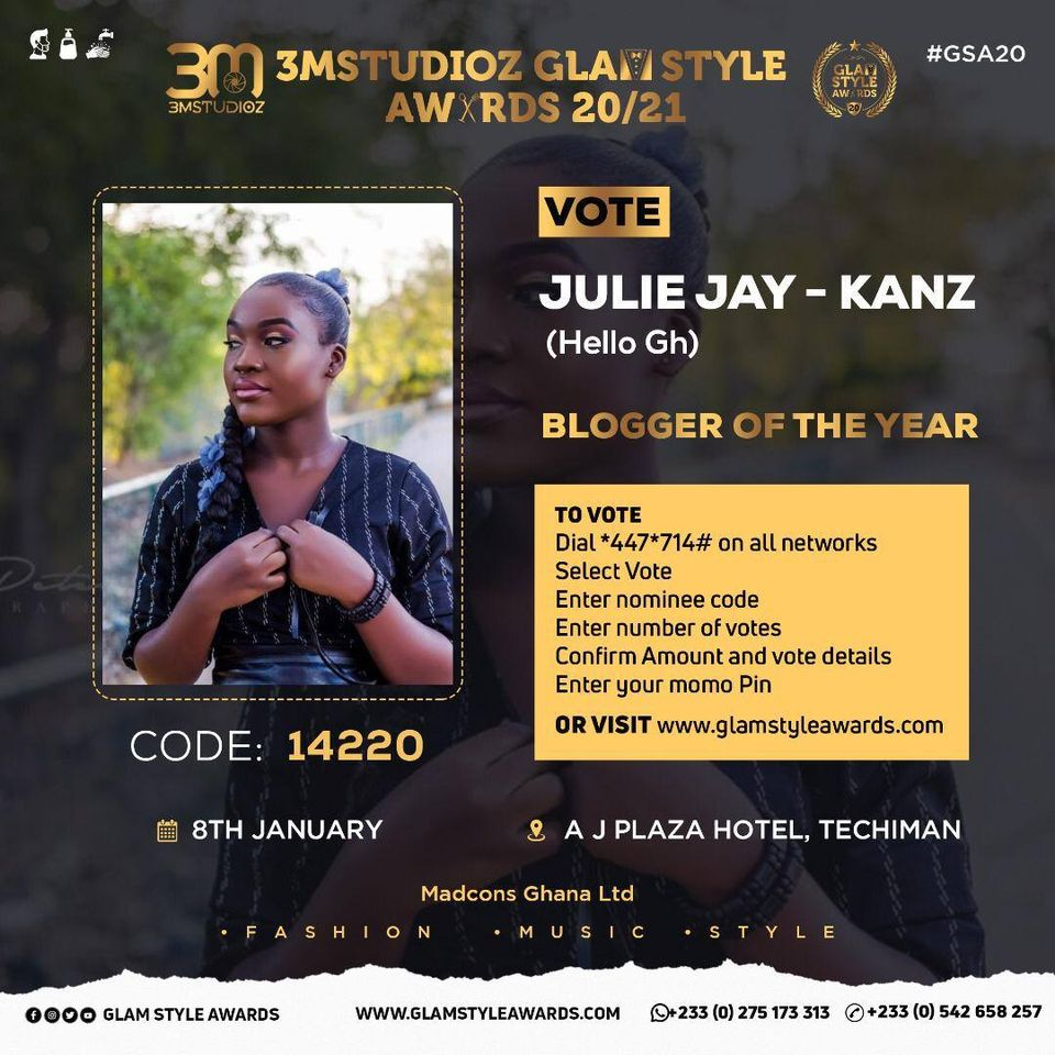Music blogger Jullie Jay-Kanz Bags 3 Nominations at Glam Style Awards