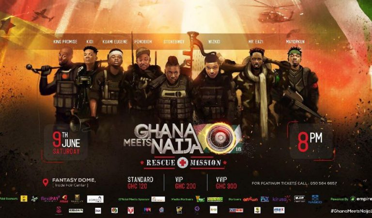GRAB YOURS NOW! Tickets Outlets for Ghana Meets Naija Announced